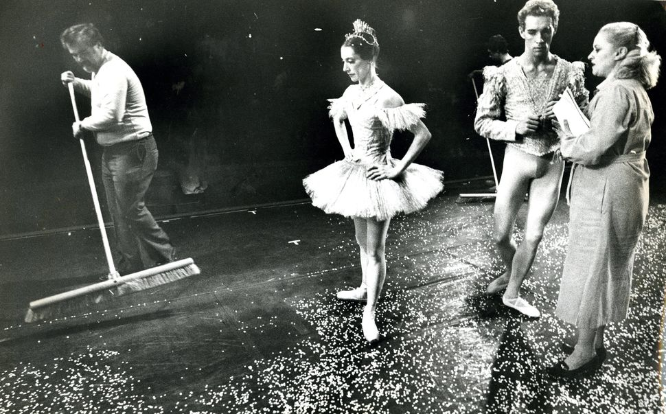 In 1981, stagehand Ray McLaughlin swept artificial snow from the stage of Boston's Metropolitan Center for the Performing Art