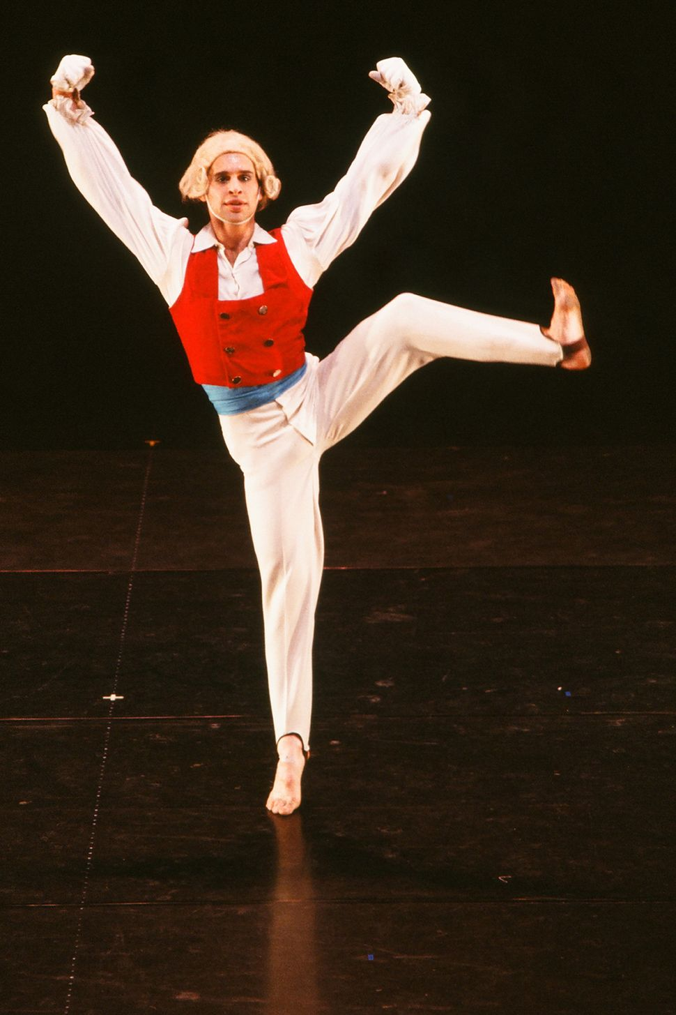 "An unidentified male dancer performs in Frank Ohman's New York Dance Theatre production of ""The Nutcracker"" in New York, New"