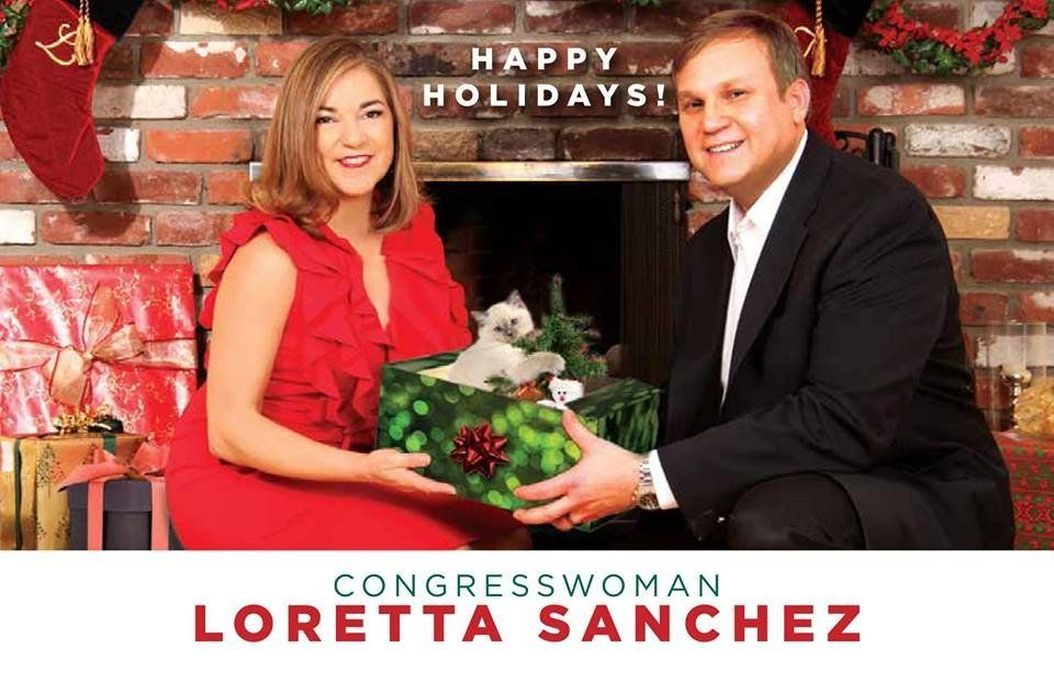 Rep. Loretta Sanchez's 2016 holiday card.