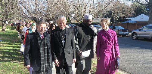 Religious leaders in the Washington, D.C., area joined in the interfaith march on Sunday, including Rabbi M. Bruce Lustig of