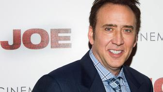 "Nicolas Cage arrives for the ""Joe"" premiere hosted by Lionsgate and The Cinema Society on Wednesday, April 9, 2014, in New York. (Photo by Charles Sykes/Invision/AP)"