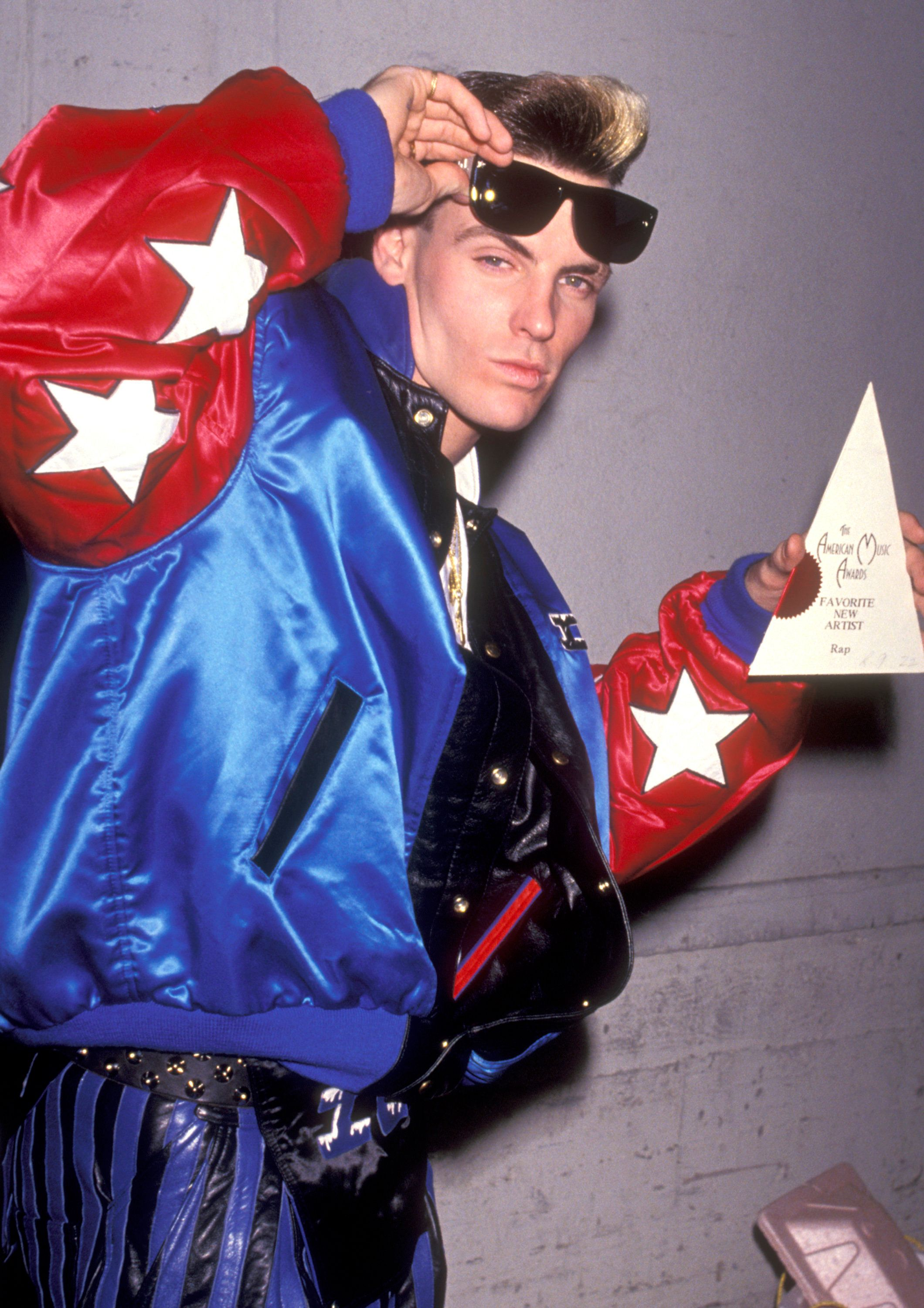 LOS ANGELES - JANUARY 28:  Singer Vanilla Ice attends the 18th Annual American Music Awards on January 28, 1991 at Shrine Auditorium in Los Angeles, California. (Photo by Ron Galella, Ltd/WireImage)