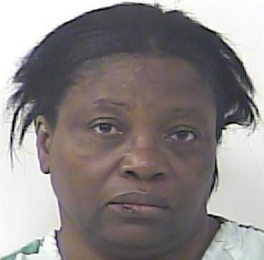 Dawn Meikle, 55, was charged with domestic battery and police said she attacked her husband for farting in bed.