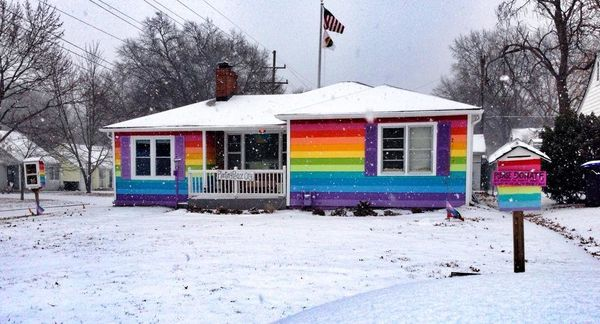 2015 proved to be another remarkable year for The Equality House -- the rainbow structure that sits in direct opposition to t