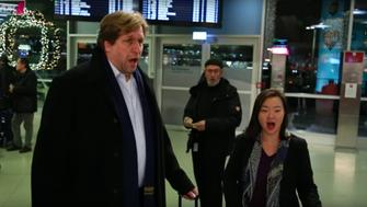 For several beautiful minutes, travelers stresses appeared to melt away when opera singers staged a flash mob inside of a German airport.