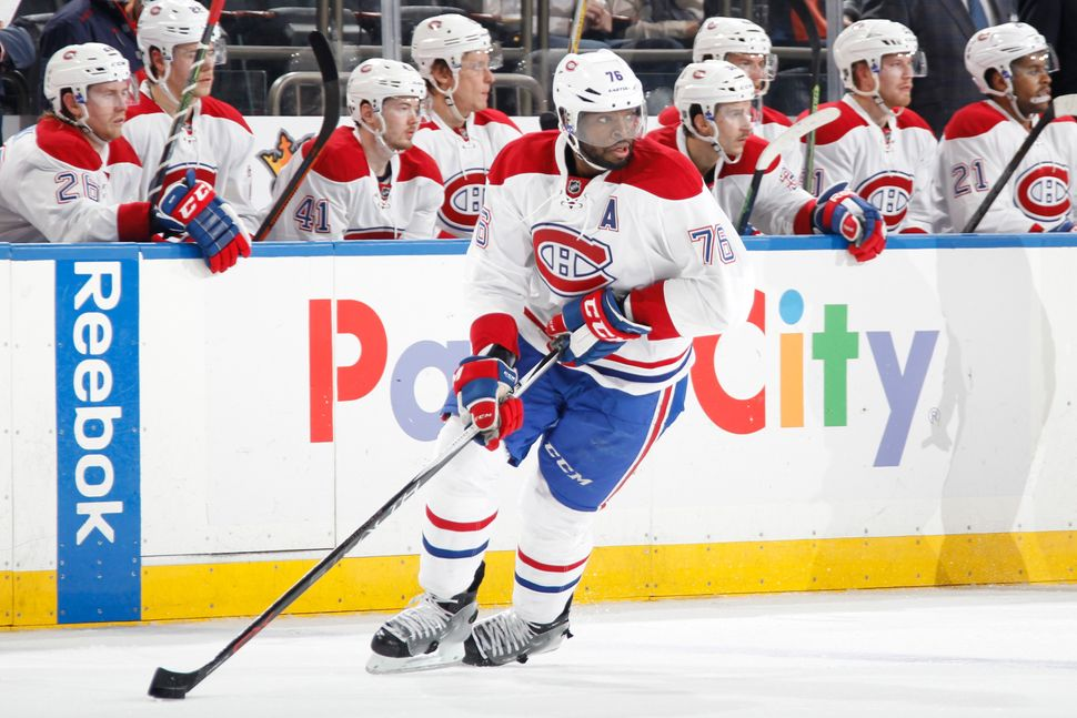 P.K. Subban of the Montreal Canadiens during a game against the New York Rangers in November 25. Subban, a Canadian, has quic