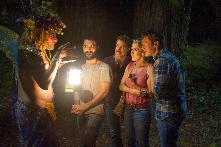 "Frankie J. Alvarez,Murray Bartlett,Lauren Weedmanand Jonathan Groff star in a scene from Season 2 of ""Looki"