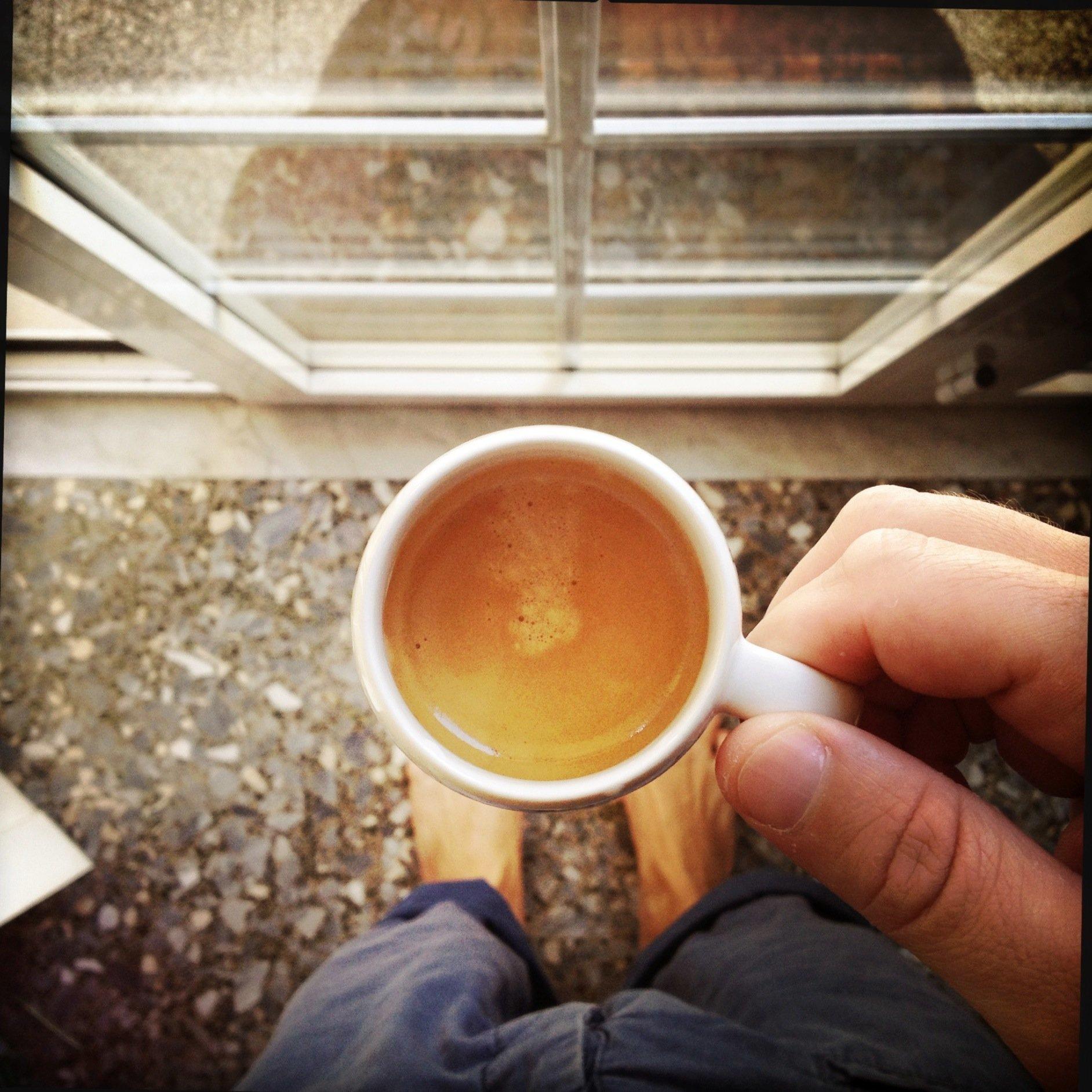 Bare feet coffee