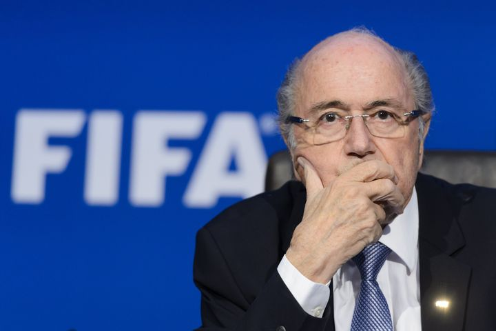 FIFA president Sepp Blatter at a press conference in July. On Monday, the FIFA ethics committee suspended Blatter and Michel