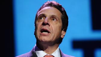 NEW YORK, NY - DECEMBER 01:  Andrew Cuomo speaks on stage at the World AIDS Day 2015: From Vision To Reality on December 1, 2015 in New York City.  (Photo by Gary Gershoff/Getty Images for Housing Works)