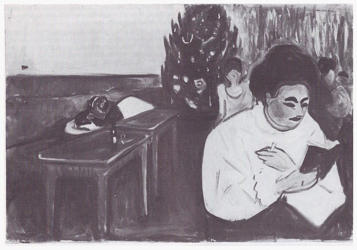"""Edvard Munch, """"Christmas in the Brothel,"""" 1904 (<a href=""""https://en.wikipedia.org/wiki/Christmas_in_the_Brothel#/media/File:M"""