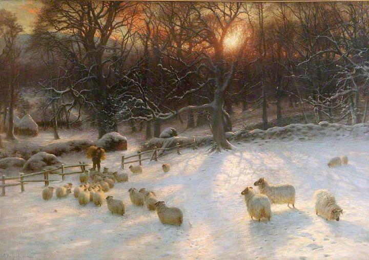 "Joseph Farquharson, ""Beneath The Snow Encumbered Branches,"" 1846 (<a href=""https://en.wikipedia.org/wiki/Beneath_the_Snow_Enc"
