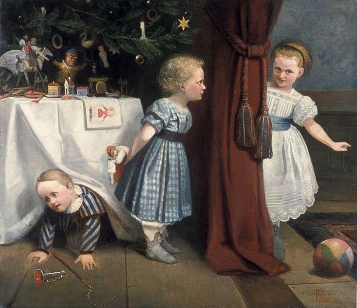 """Ludwig Robler, """"Die Kinder der Familie Buderus, 1866 (<a href=""""https://commons.wikimedia.org/wiki/File:Die_Kinder_der_Familie"""