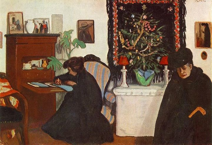 """Jozef Rippl-Ronai, """"Christmas,"""" 1903 (<a href=""""https://commons.wikimedia.org/wiki/File:Rippl_Christmas.jpg"""">Wiki Commons</a>)"""