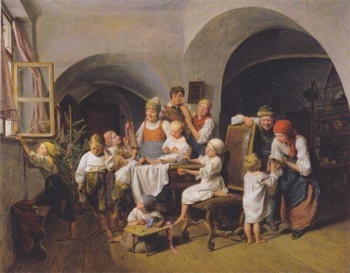 "Ferdinand Georg Waldmuller, ""Christmas Morning,"" 1844 (<a href=""http://www.wikiart.org/en/ferdinand-georg-waldm-ller/christma"