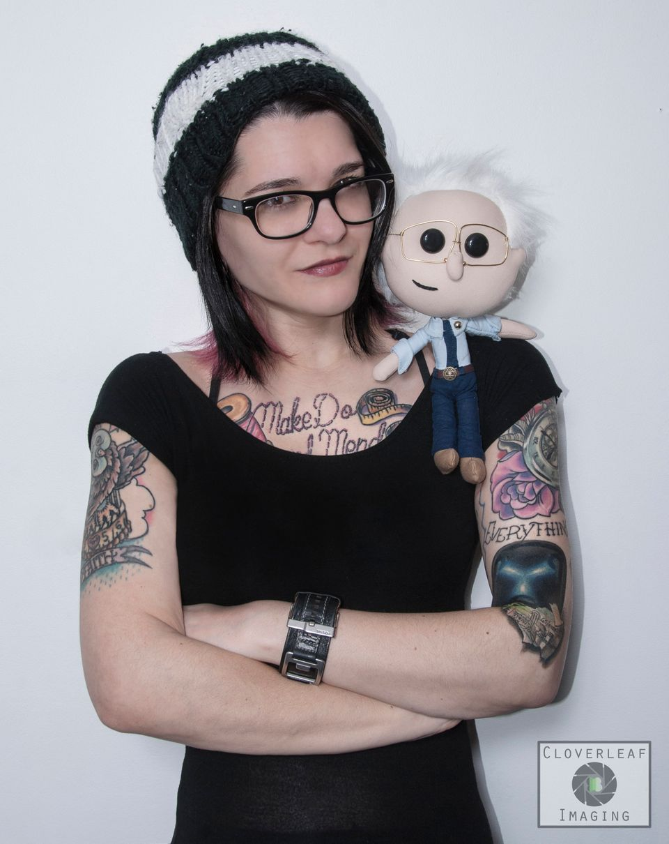"Emily Engel created these handmade ""Lil' Bernie doll"" with the hopes of raising contribution money to Sander's&nbsp"