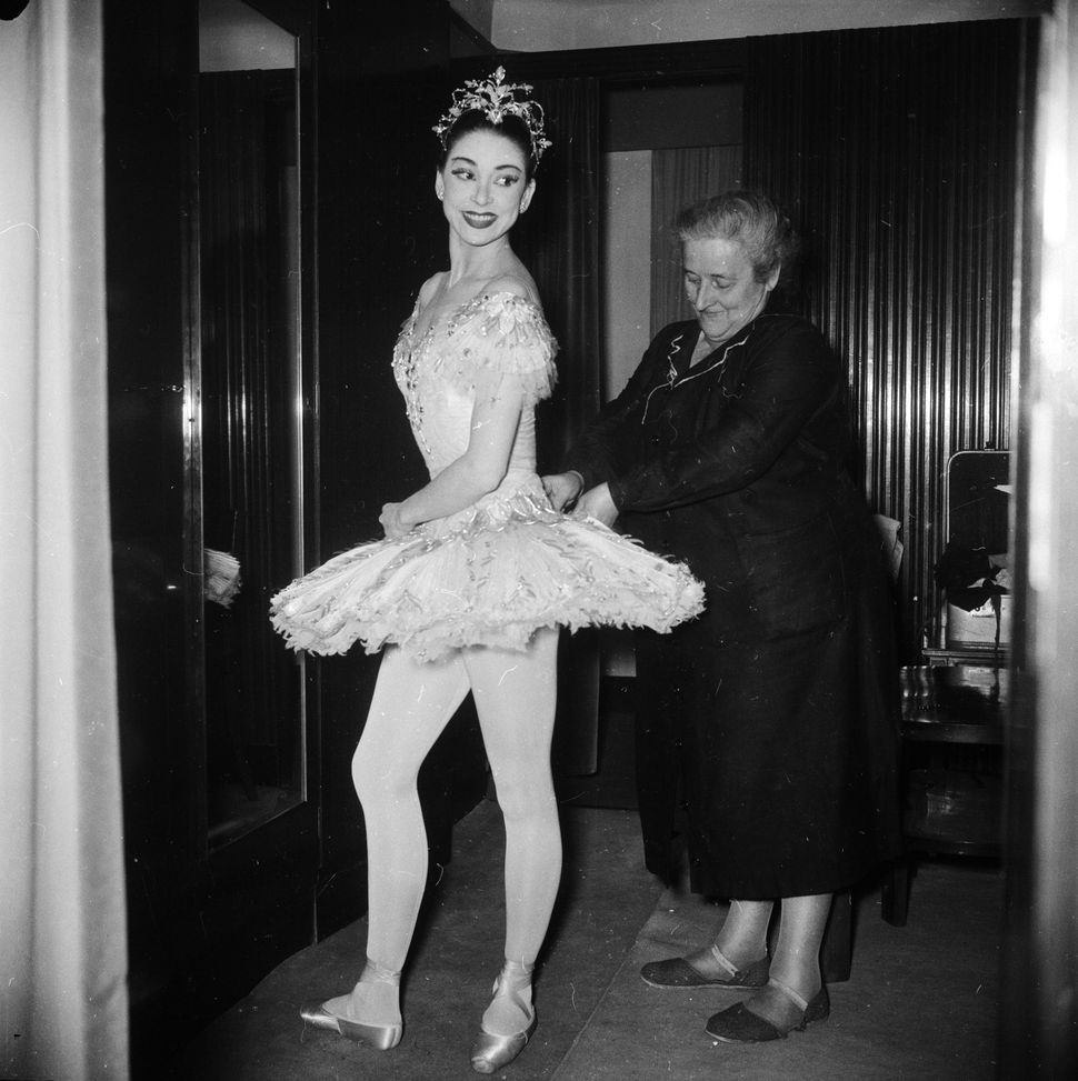 "British ballet dancer Margot Fonteyn in Milan for a production of ""The Nutcracker"" at La Scala in 1957."