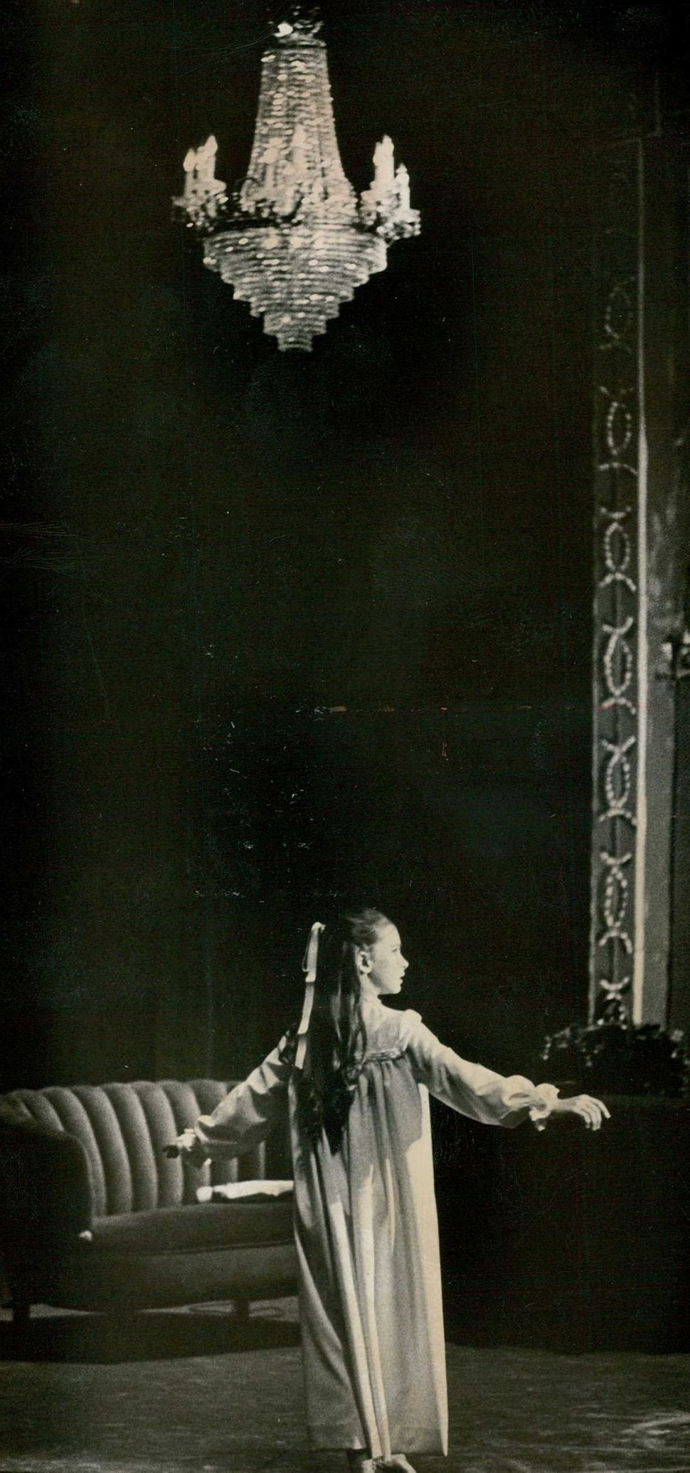 "Heater Moore goes through a dance routine as Clara in ""The Nutcracker"" in 1962."