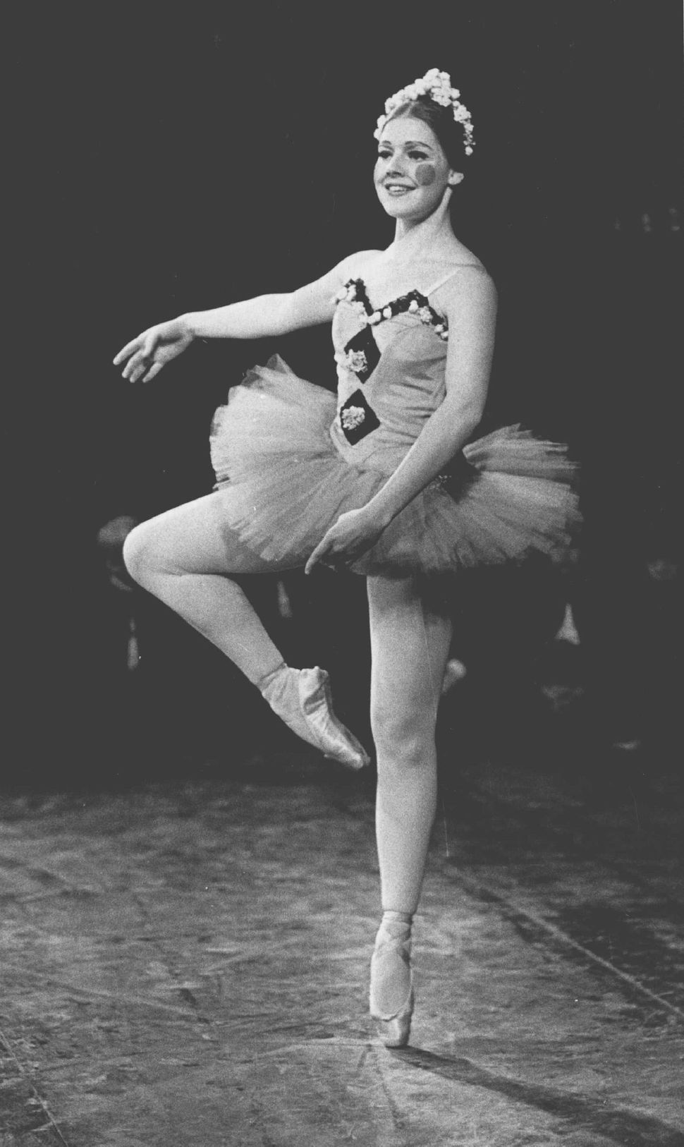 "A ballerina dressed as doll in a ""Nutcracker"" production in 1971."