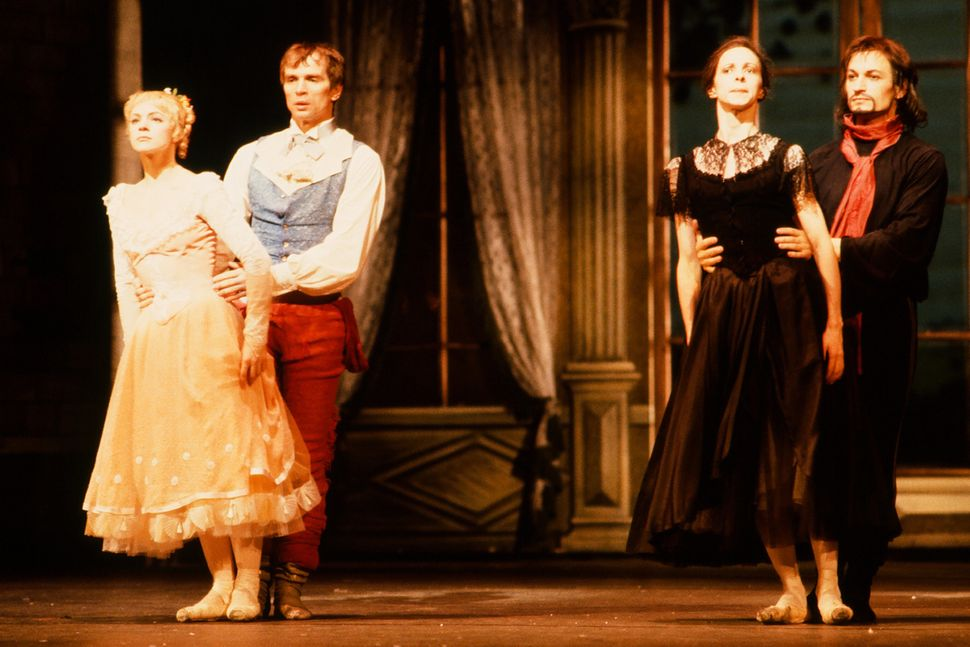 Russian-born French dancer Rudolf Nureyev dances with an unidentified cast members in Frank Ohman's New York Dance Theatre pr