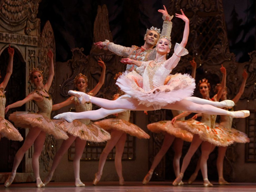 "Alexandra Ansanelli, who plays the Sugar Plum Fairy, and Valeri Hristov of Bulgaria perform during a dress rehearsal for ""The"