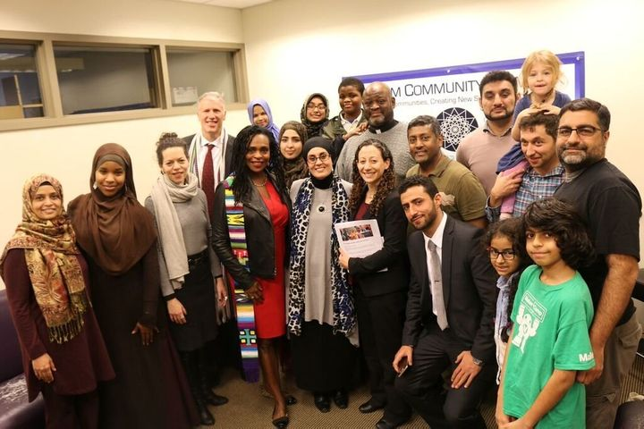 New York-based clergy and interfaith activists delivered the letter of support to the Muslim Community Network on Christmas E