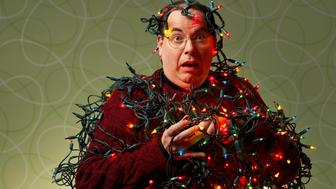 Man attacked by Christmas lights