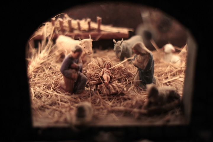 Christ's nativity scene depicted in Luceram, southeastern France, on Dec. 21.