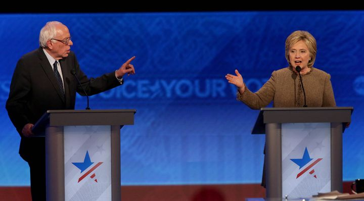 Bernie Sanders and Hillary Clinton disagreed strongly over taxes at the Democratic presidential debate at Saint Anselm Colleg