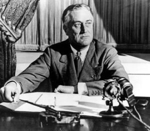 Franklin D. Roosevelt said that funding Social Security through a payroll tax on all workers would provide Americans with a ""