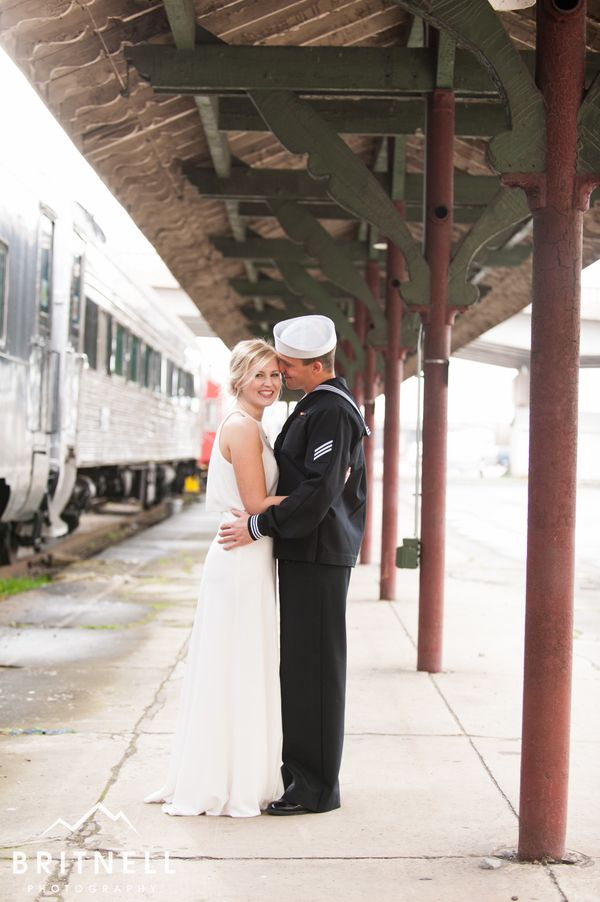 """""""Jon and Kristen got married at the Historic Southern Railway Station in Knoxville, Tennessee."""" -David Britnell"""