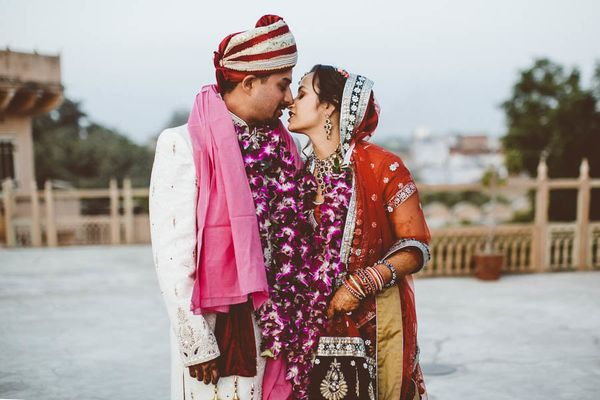 """""""Bride and groom portraits on the palace rooftop. A moment alone."""" -Bethany Carlson"""