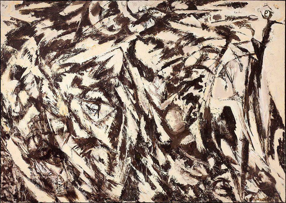Lee Krasner, <em>Charred Landscape</em>, 1960.