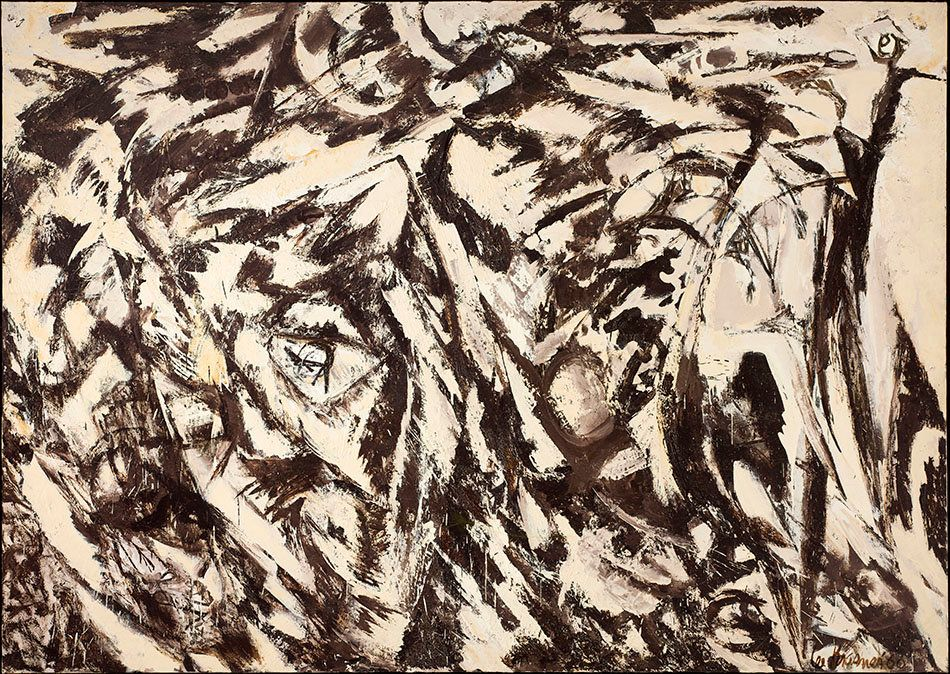 Lee Krasner, <i>Charred Landscape</i>, 1960.