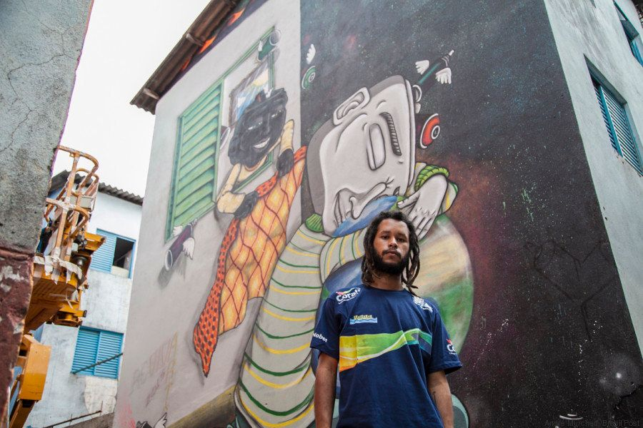 Italo, 24, was selected by the community to participate in the art project.