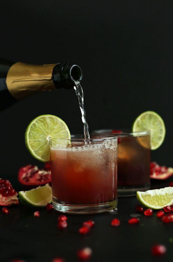 "<strong>Get the <a href=""http://minimalistbaker.com/sparkling-pomegranate-margaritas/"">Sparkling Pomegranate Margarita recipe"