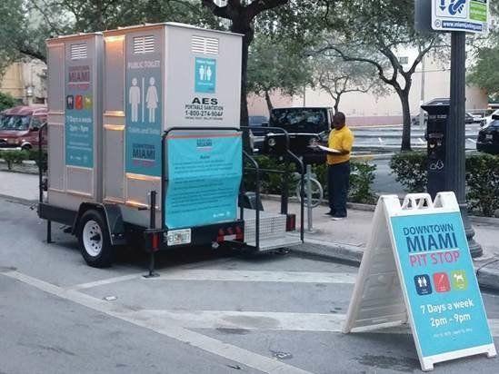 Miami Installs Free Public Bathrooms For Homeless