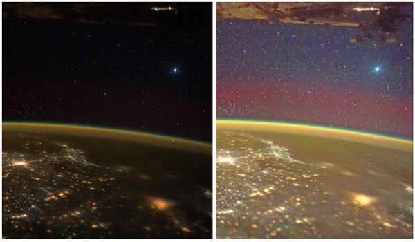 When International Space Station astronaut Scott Kelly snapped a photo of south India on Nov. 15, Internet UFO hunters specul