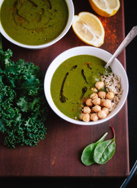 """<strong>Get the <a href=""""http://cookieandkate.com/2014/redeeming-green-soup-with-lemon-and-cayenne/"""">Green Soup with Lemon an"""