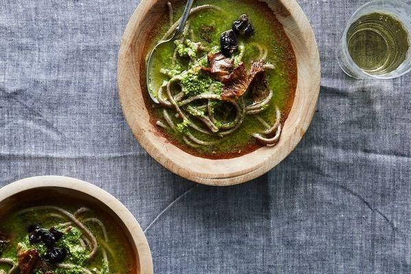 "<strong>Get <a href=""http://food52.com/recipes/38686-heidi-swanson-s-spicy-green-soup"">Heidi Swanson's Spicy Green Soup recip"