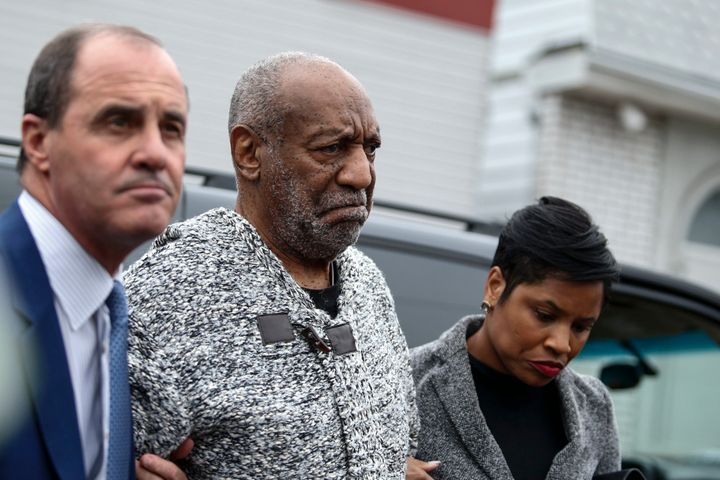 Bill Cosby arrives to the courthouse in Elkins Park, Pennsylvania, to face charges of aggravated indecent assault.