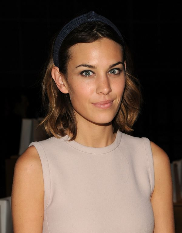 Alexa Chung attends the Marc Jacobs SS11 Show in New York City.