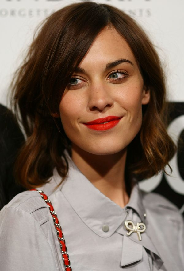 """Alexa Chung poses during the launch of ACP's 30 Days of Fashion and Beauty at """"Swifts"""" Darling Point in Sydney, Australia."""