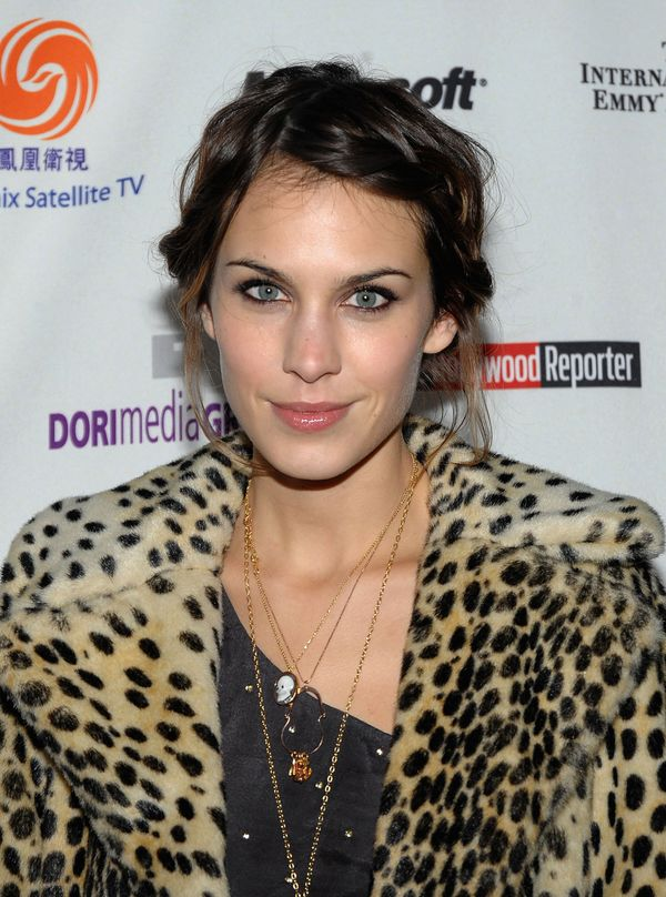 Alexa Chung attends the 37th International Emmy Awards gala at the New York Hilton and Towers in New York City.