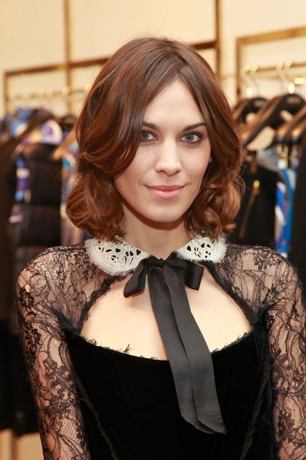 Alexa Chung attends the celebration of Emilio Pucci New Boutique launch at Saks Fifth Avenue in New York City.
