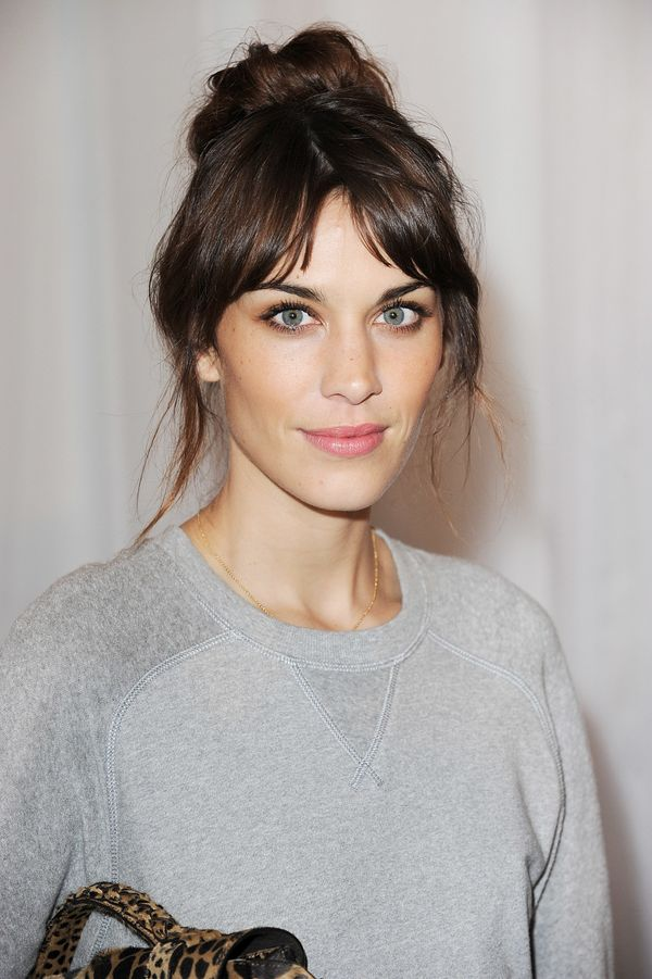Alexa Chung arrives at the Mulberry Spring Summer 2013 Show during London Fashion Week at Claridge's in London, England.