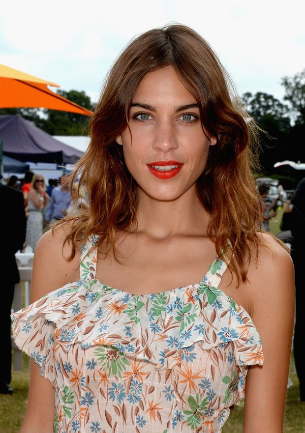 Alexa Chung attends the Veuve Clicquot Gold Cup Final at Cowdray Park Polo Club in Midhurst, England.