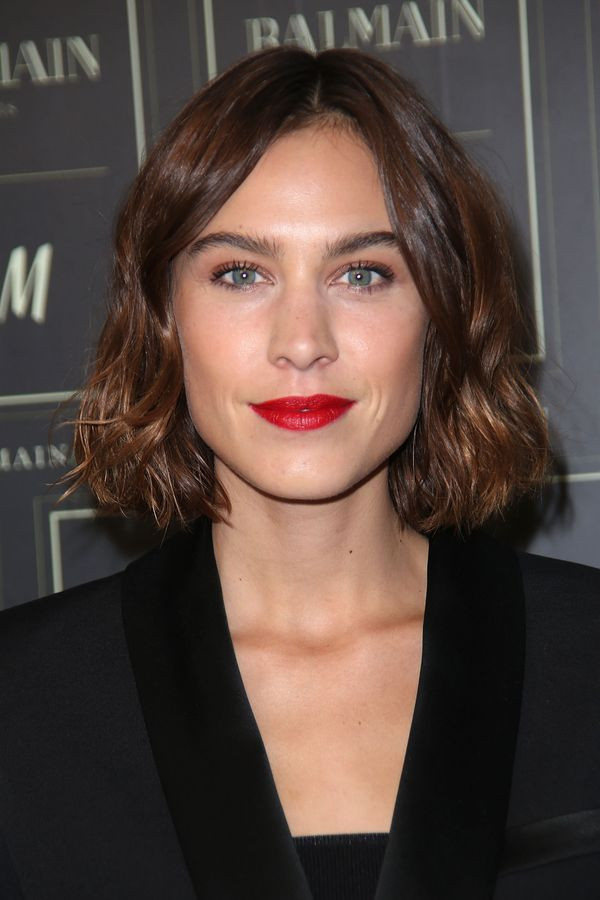 Alexa Chung arrives at the Balmainx H&M collection launch event in New York City.