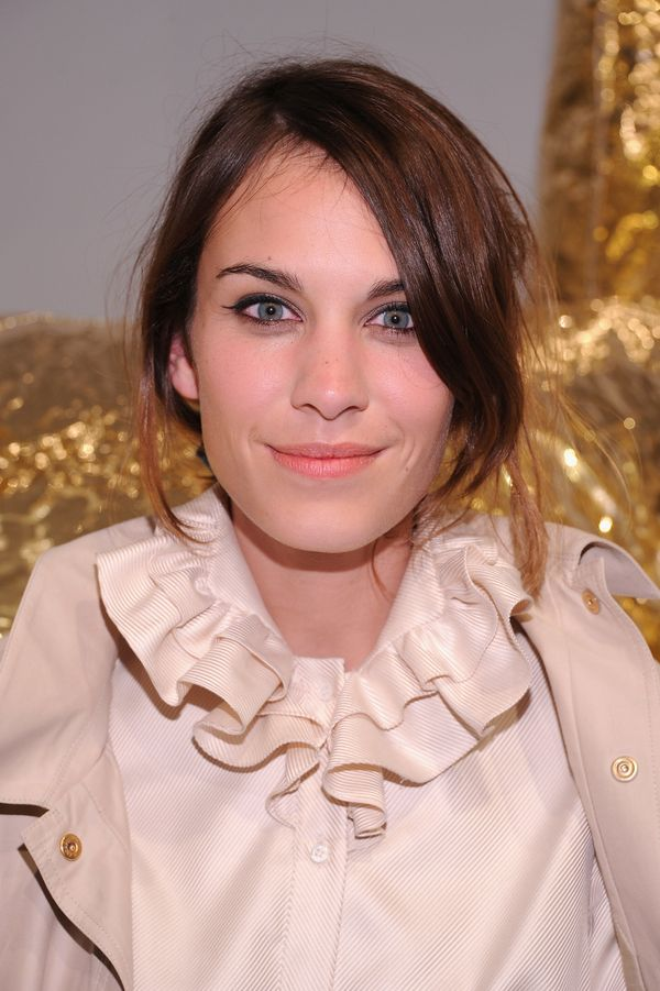 Alexa Chung attends the Mulberry 40th Anniversary celebration on the Rooftop at Skylight West in New York City.
