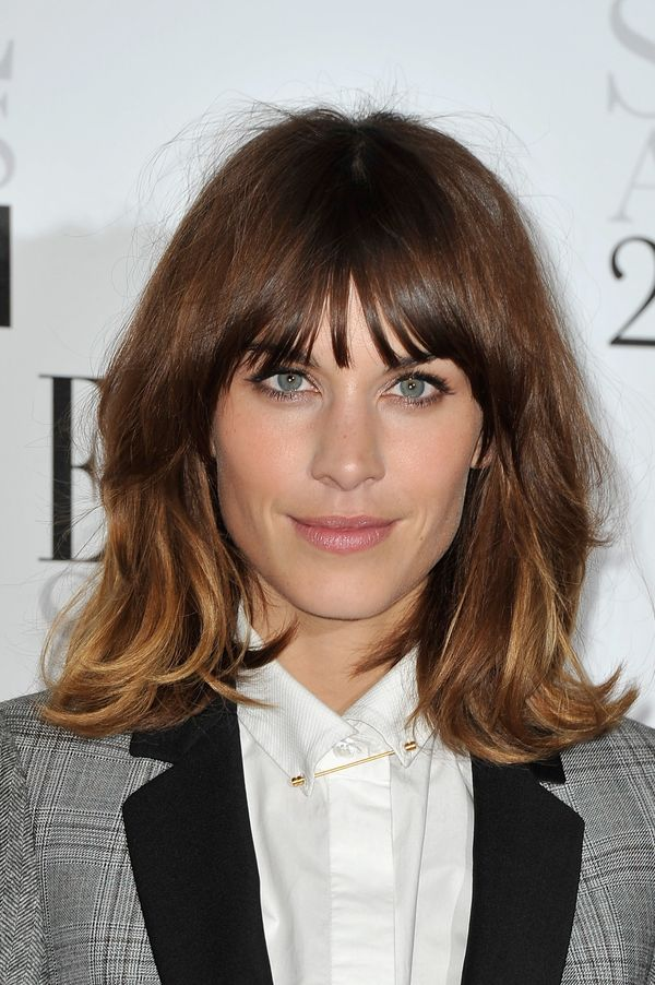 Alexa Chung arrives for The Elle Style Awards 2012 at The Savoy Hotel in London, England.